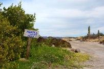 Le chemin pour la playa de la Perla