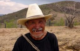 San Agustin Etla, Mexique : Fulgencio le berger rigolo.