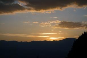 Tous les soirs, on a pu profiter d'un splendide coucher de soleil.