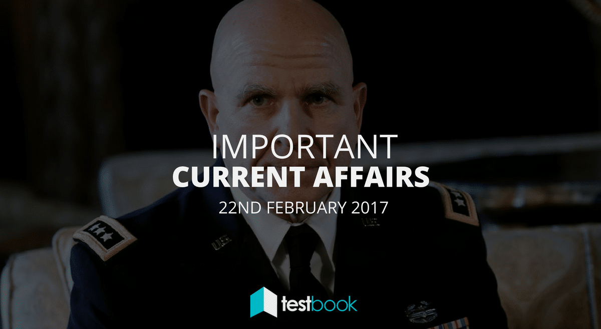 Important Current Affairs 22nd February 2017 with PDF