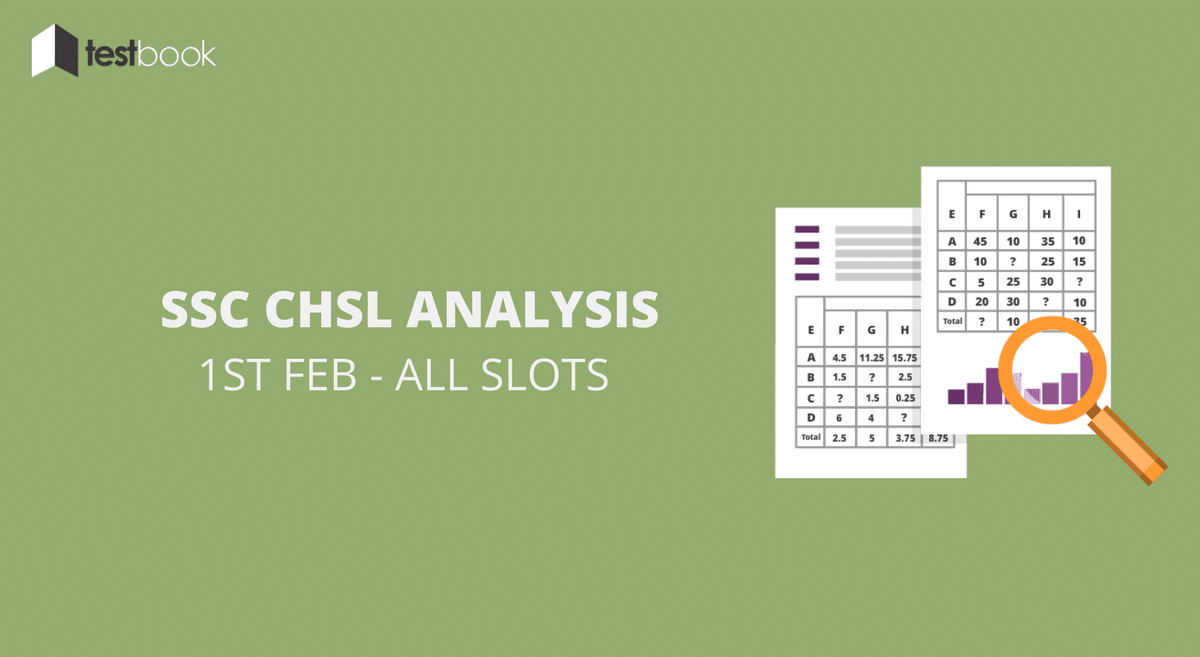 SSC CHSL Analysis 1st February 2017 - Tier I (All Slots)