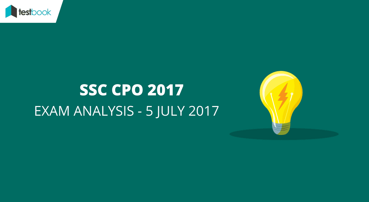 SSC CPO Analysis 5th July 2017