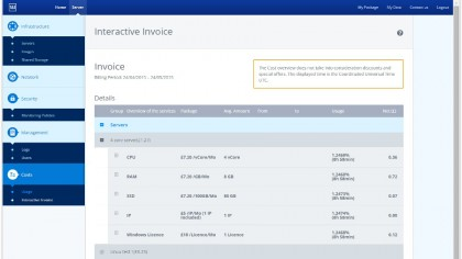 Cloud Server - interactive invoice