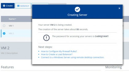 Cloud Server - quick create