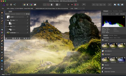 Serif Affinity Photo screenshot