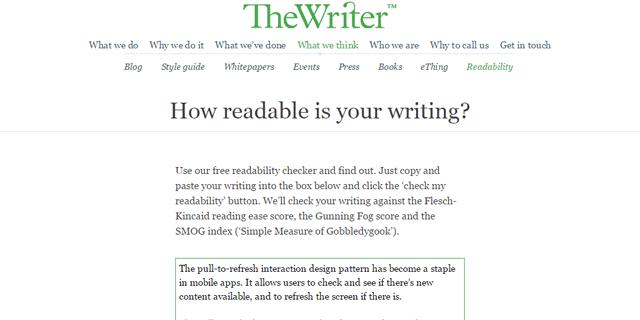Readability | The Writer