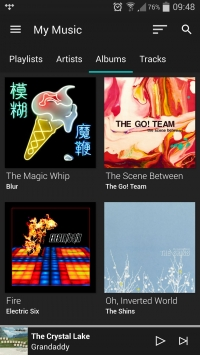 tidal android app album section