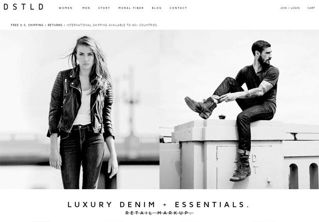 Screenshot of a clean website: DSTLD