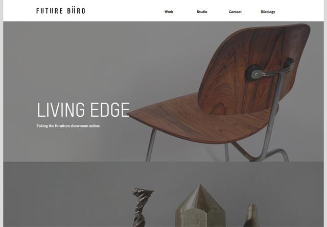 Screenshot of a clean website: Future Büro
