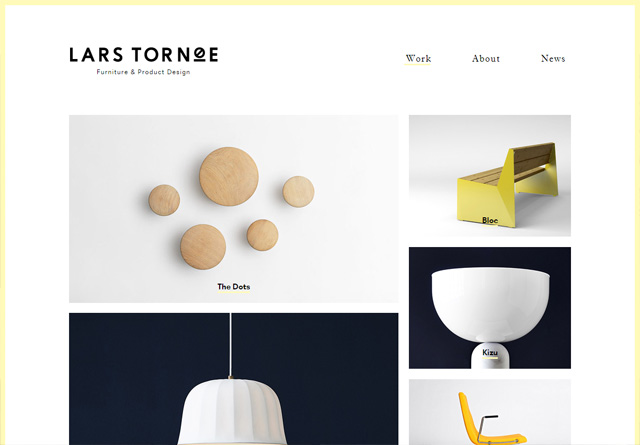 Screenshot of a clean website: Lars Tornøe