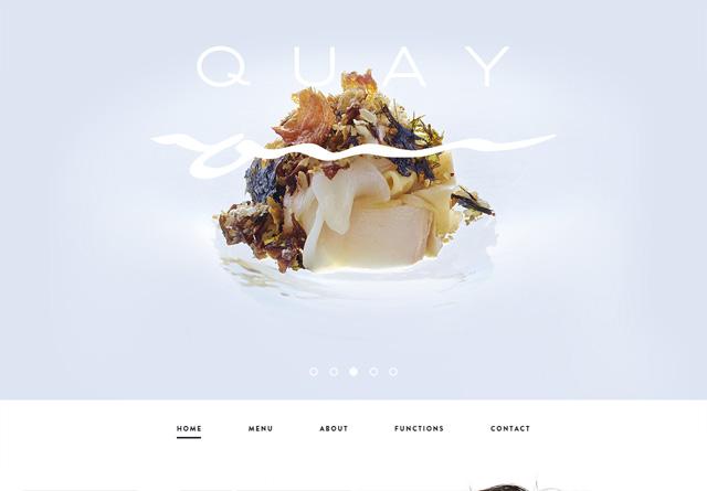Screenshot of a clean website: Quay Restaurant