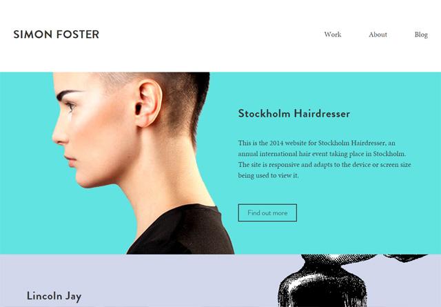 Screenshot of a clean website: Simon Foster