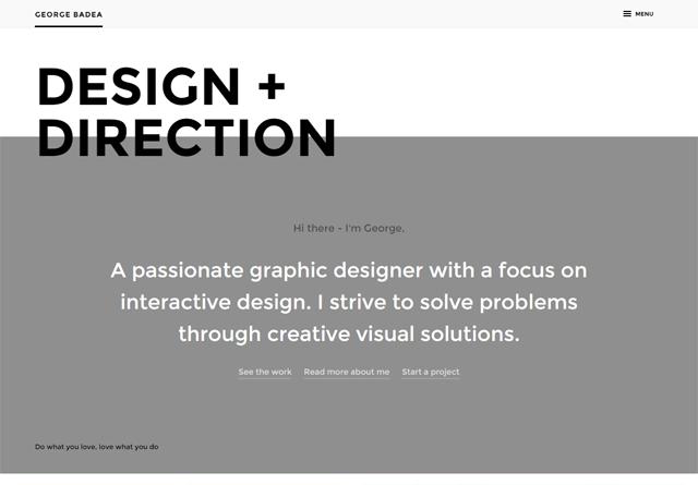 Screenshot of a clean website: George Badea