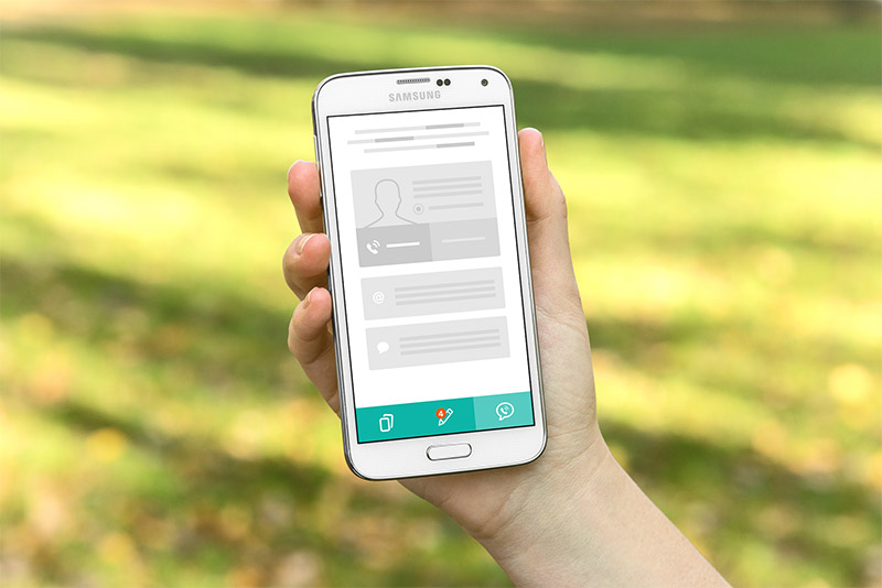 Testing wireframes on mobile devices
