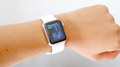 Apple Watch with Siri on