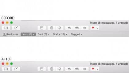 Apple Mail Favorites Bar