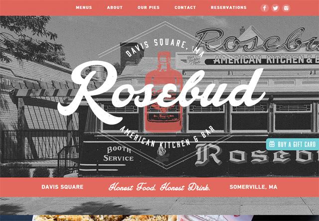Image of a restaurant website: