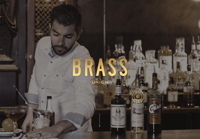 Image of a restaurant website: Brass