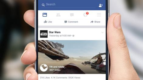 New Star Wars 360-degree video is among first on Facebook