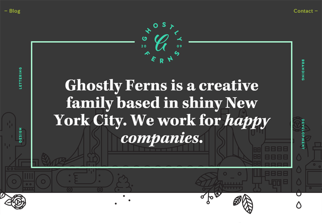 Design agency: Ghostly Ferns