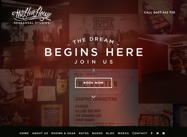 One-page website: The Hen House
