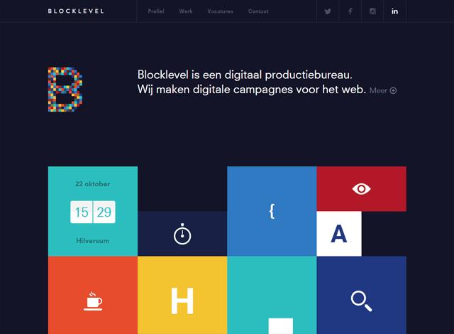 One-page website: Blocklevel