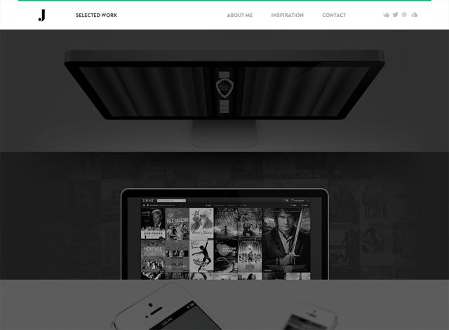 One-page website: Jules Bassoleil Portfolio