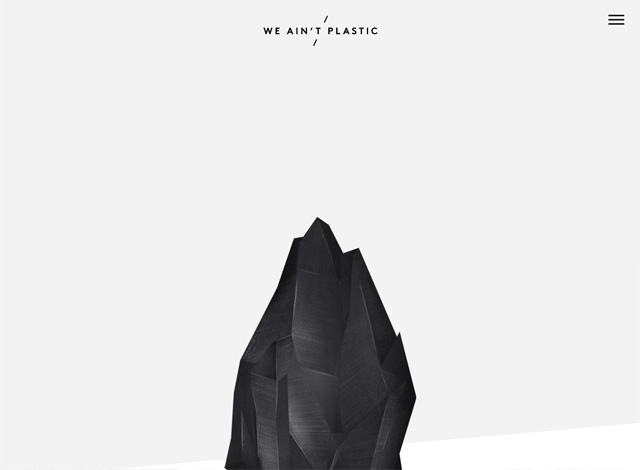 One-page website: We Ain't Plastic
