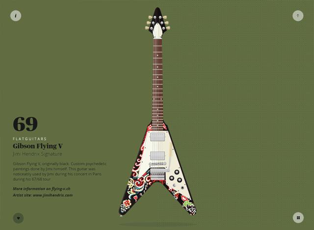 One-page website: FlatGuitars