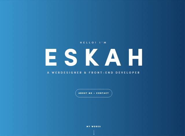One-page website: Eskah