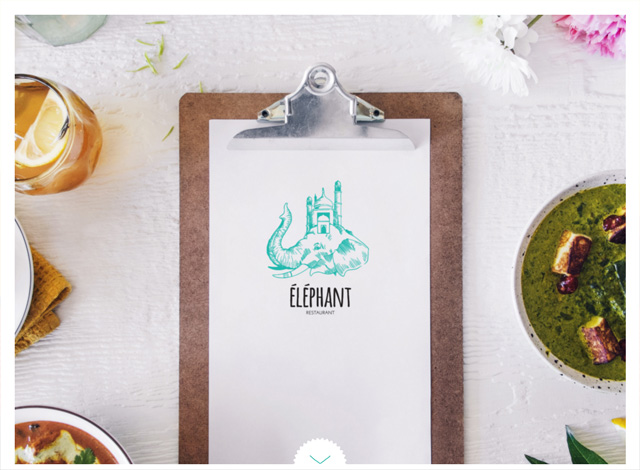 One-page website: Éléphant