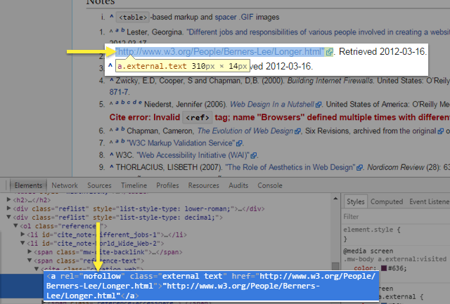 "External links in Wikipedia have rel=""nofollow""attributes."