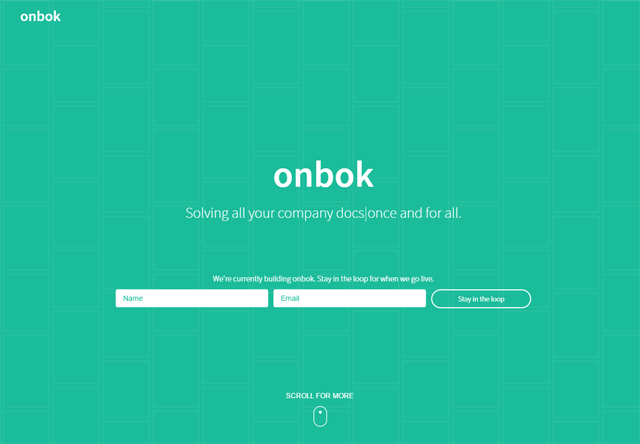 Coming soon page of onbok
