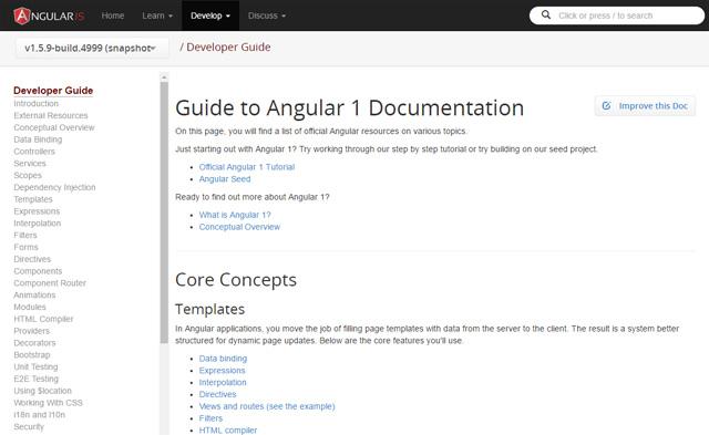 AngularJS Developer Guide