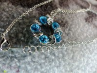 Halskette blauer Anhänger
