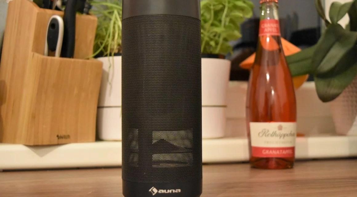 Alexa, der Flaschengeist [Mobiler Lautsprecher, Auna Intelligence Tube (4 von 5)]