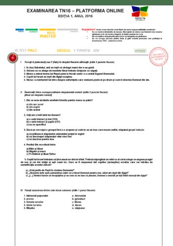 TEST MA22
