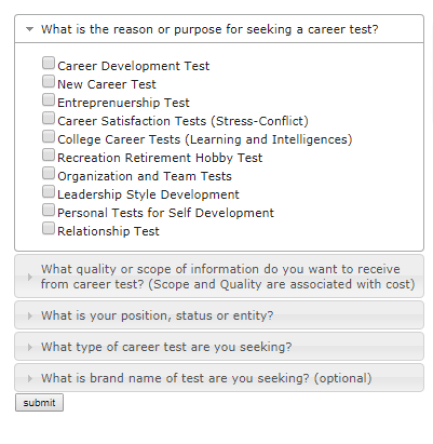 career test aptitude test