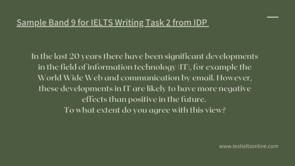 IELTS Writing Actual Tests in 2021 with Sample Band 9 testieltsonline