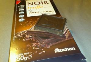 auchan chocolats noir a la truffe