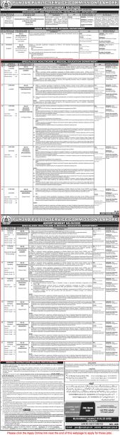Punjab Specialized Healthcare and Medical Education Department PPSC Jobs 2020 Apply Online Eligibility Criteria