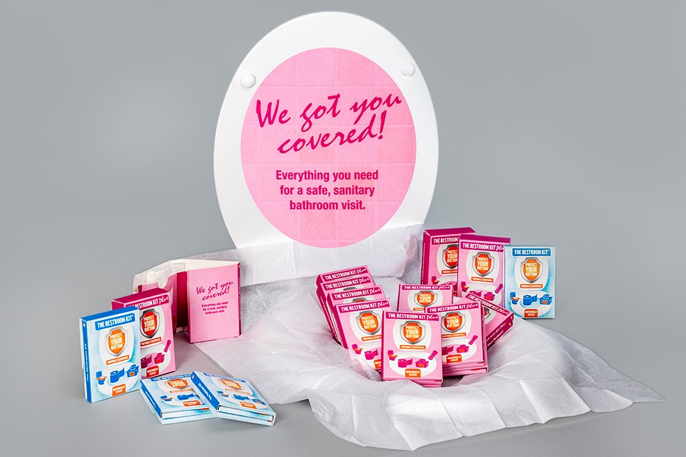 toilet seat cover for adults - disposable toilet seat covers - the restroom kit