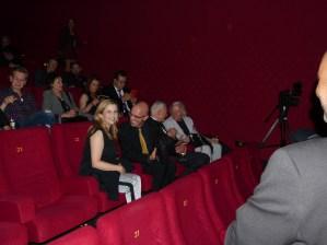 Beim Eröffnungsfilm: Michaela Schaffrath (l.), Dieter Laser (2.v.r) und John Hough (r.)