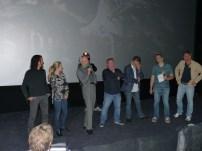 """""""Sky Sharks"""" Macher mit Cast: von links: Yazid Benfeghoul. Michaela Schaffrath, Michael Flintrop, Marc Fehse, Carsten Fehse"""