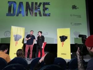 Festivalveranstalter Paul Andexel und die Moderatorin Anne Chlosta sagen Danke für das tolle Festival © Michael Kaltenecker