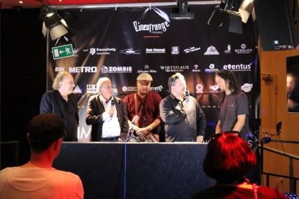 Marc L. Lester, Dr. Michael Flintrop, Markus Haage (Herausgeber vom Zombie - Sponsor), Marc Fehse und Yazid Benefghoul (Herausgeber von Deadline - Sponsor)