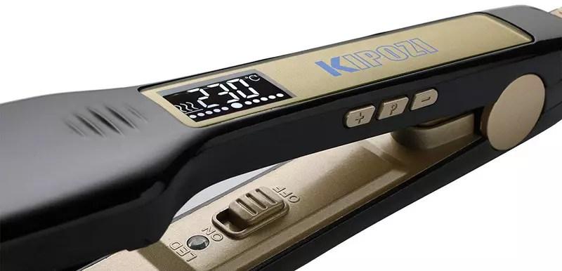 Plancha de pelo profesional KIPOZI Plancha amplia con pantalla LCD