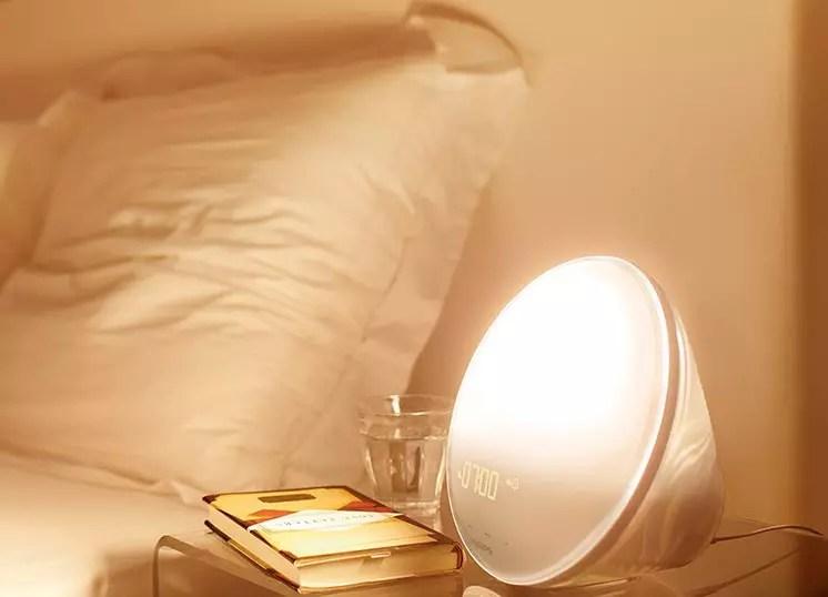 Philips HF352001 Wake Up Light con lámpara LED - Función de cambio rojo