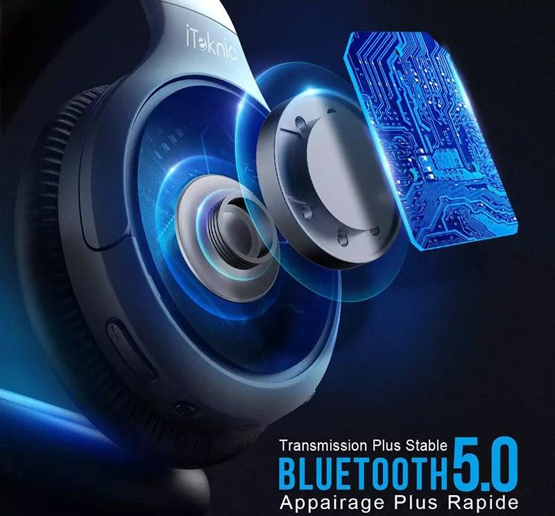 iTeknic Bluetooth Headset Reducción activa del ruido