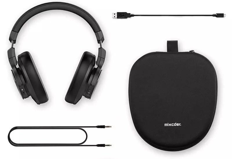 Mixcder E8 Auriculares Bluetooth con cancelación activa de ruido y auriculares con micrófono ANC